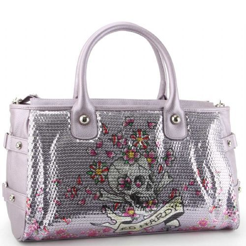 Ed Hardy Treasure Chest Alice Satchel Bag NWT