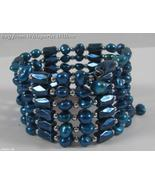 Royal Blue  Magnetic Hematite/Pearl Lariat & Earrings Set - $22.50