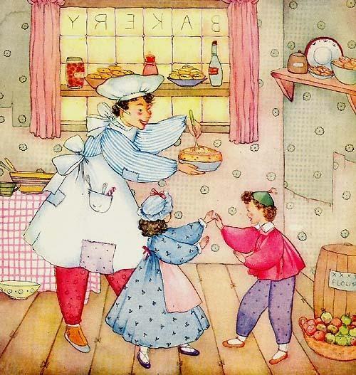Pat A Cake Sweet 1940 Book Art by Margot Austin Print  BONUS