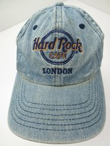 Hard Rock Cafe London Blue Denim Adjustable Adult Ball Cap Hat - $22.76