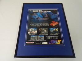Time Crisis 2 2001 Playstation 2 Framed 11x14 ORIGINAL Vintage Advertise... - $22.55