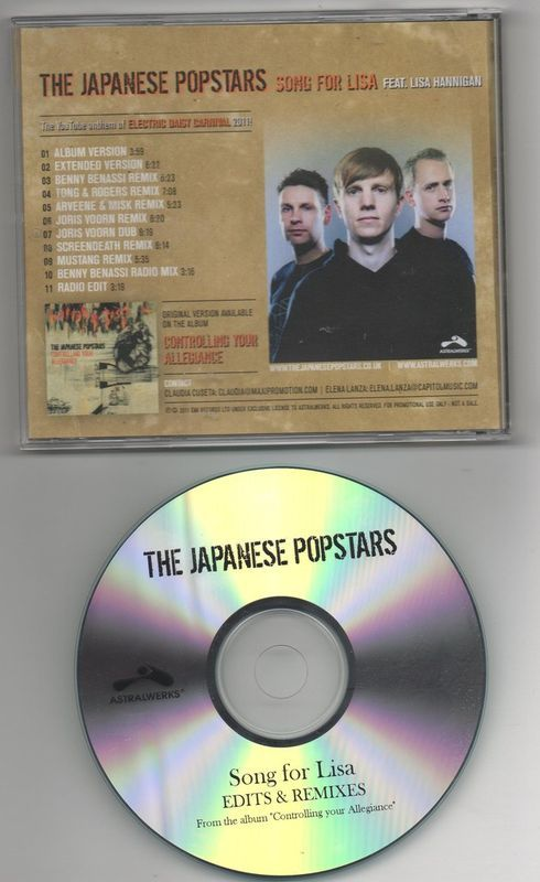 Japanese Popstars Song For Lisa 11 Track CD Remixes