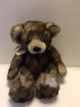 "Plush Russ Berrie & Co Cappuccino Teddy Bear 12"" Sitting Stuffed H208 - $9.49"
