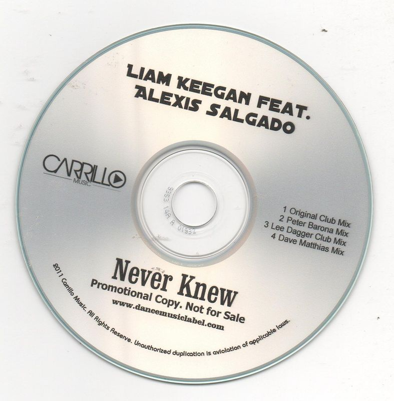 Liam Keegan Ft. Alexis Salgado Never Knew 4 Track CD