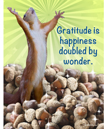 Unique Thank You Card: Gratitude Is Wonder - $4.25