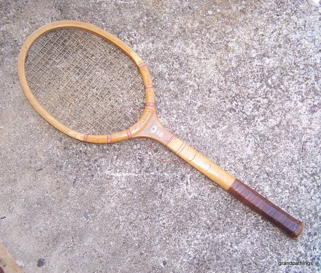"Antique Wright & Ditson Wood ""DAVIS CUP"" Tennis Racquet"