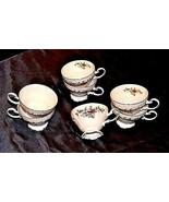 Bavarian German China Set of Johann Haviland Tea Cups AB 55-A  Vintage - $98.95