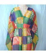 Boho Vintage 70s Hippie Caftan Sheer Chiffon Lounger - $166.99