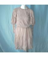 Vintage Edwardian Normandy Lace Batiste Day Dress XS Eyelet Ladies Teen ... - $175.00