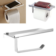 Polished Chrome Stainless Steel Bathroom Toliet Paper Book Phone Holder - $12.00