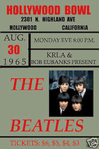 The Beatles 1965 Hollywood Bowl Poster - Ships FREE - $12.00