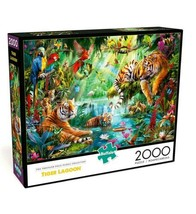 2000 Piece Jigsaw Puzzle Buffalo Games 38 in x 26 in, Tiger lagoon - NEW - $32.25