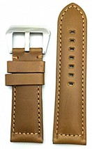 Panerai Style Watch Band by NEWLIFE | Brown, Solid, Smooth Genuine Leath... - $30.40