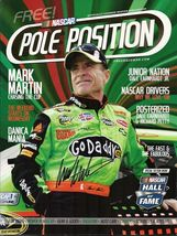 APRIL 2010 NASCAR POLE POSITION RACING MAGAZINE MARK MARTIN COVER SIGNED - $75.00