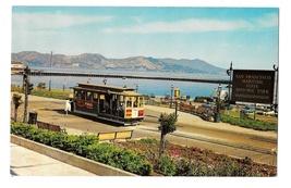 CA San Francisco Cable Car Powell and Hyde Turnaround Vintage Crocker Po... - $4.99