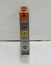 "New Genuine Canon CLI-221 Yellow Ink Cartridge PIXMA MX860 MX870 ""FREE S... - $8.99"