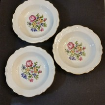 Homer Laughlin Coupe Soup Bowl LOT Petit Point Virginia Rose Cunningham Pickett - $39.58