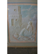 SONG OF THE MORNING, PAPER MACHE PAINTING ON CANVAS by PRISCILLA FRAMED ... - $185.63