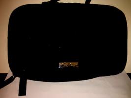 Vera Bradley BLACK MICROFIBER Divided Cosmetic Travel Case Bag Exc Preow... - ₹2,090.65 INR