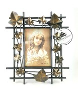 "Ivy Leaf Vine Aged Bronze Metal Picture Frame 3.5X5"" Photo Tabletop NWT - $12.19"