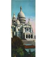 PARIS in 1900s Beautiful Chromotype Photo - Basilica Sacre Coeur - $25.20