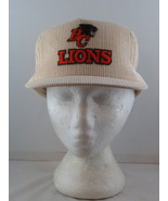 BC Lions Hat (VTG) - Crested Corduroy Classic by Wilson - Adult Snapback - $49.00