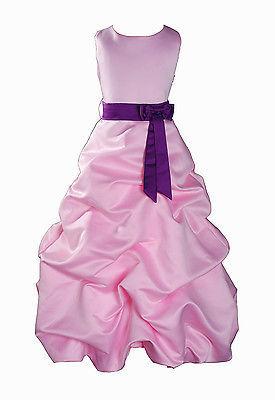 Per Bambina Da Festa Damigella Vestito Per Spettacolo 1-13 Y Rosa+Fascia image 5