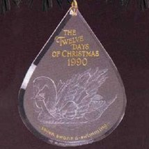 Seven Swans A-Swimming Twelve Days of Christmas 7th in Series 1990 Hallmark Orna - $19.79