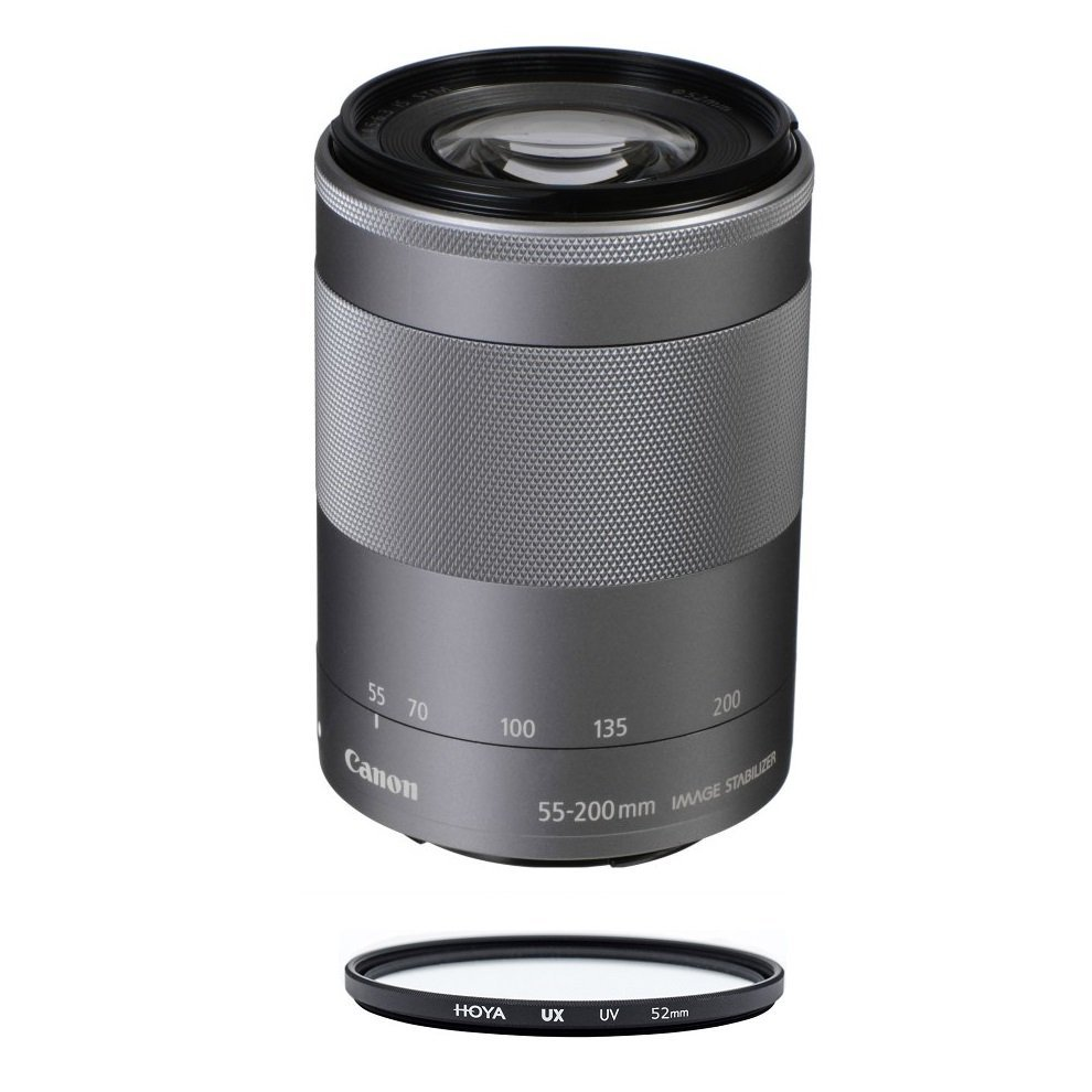 Primary image for CANON EF-M 55-200mm F4.5-6.3 IS STM Silver (No box) + HOYA UX UV 52mm Filter