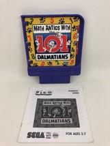 Pico Sega Game Cartridge 101 Dalmatians Math Antics 1994 Vintage 90s Gam... - $19.75