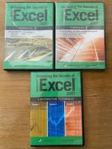 3 CD-Rom Unlocking the Secrets of Microsoft Excel Formulas 1 & 2, 3 Tutorials  - $18.80