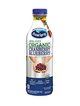 Ocean Spray 100% Juice, Organic Cranberry Blueberry, 1 Liter Bottle Pack of 8