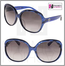 GUCCI 0080 Oversized Round Navy Blue Pearl Gradient Sunglasses GG0080SK Women - $244.53
