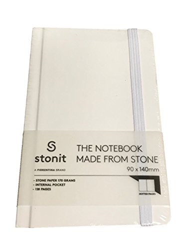 Stonit Stone Paper Journal with Bungee Closure (White, 3.5x5.5)