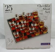 Shot Glass Checker Shot Set ~ 25 pcs ~ Luminarc ~ New In Box - $23.90