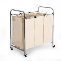 Laundry Hamper Sorter Seville Heavy Duty 3-bag ... - $73.85