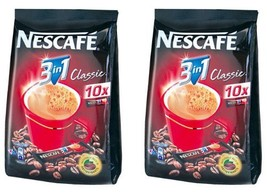 2 Boxes of Nestle Nescafe 3 in 1 Classic Instant Coffee with Cream 12.6 Oz - $27.21