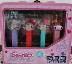 Sanrio Hello Kitty & My Melody Collectible Pez Dispensers in Metal Lunch Box - $29.70