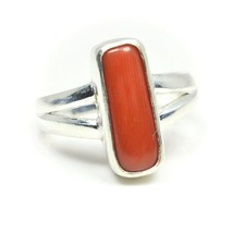 Natural Coral 925 Sterling Silver Ring For Women Cut Adjustable 3 Carat ... - £31.88 GBP