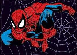 Marvel Comics Spider-Man On A Spider Web Refrigerator Magnet NEW UNUSED - $3.99