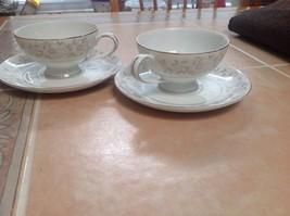 Two Mikasa Narumi Fine China Teacups & Saucers - $8.02