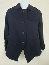 Simply Vera Vera Wang Navy Blue Light Button-up Jacket Size M - $34.64