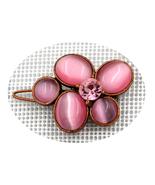 Gorgeous retro copper floral Lt Rose Swarovski element crystal hair clip - $18.00