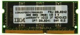 IBM 20L0242 64MB PC66 SODIMM 144-pin