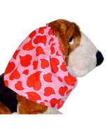 Valentine Curvy Hearts Pink Red Cotton Dog Snood by Howlin Hounds Sz Pup... - $9.50