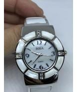 Mit Deckel Vintage Stil Perlmutt Stein Armband-Stulpe Armbanduhr - $44.58