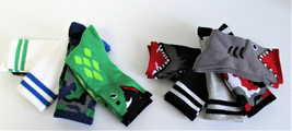 Boys K Bell 9 Pair Crew Socks Assorted Styles & Colors Fits Shoe Size 10... - $9.78
