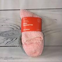 Joe Fresh Girls 11-2 Shoe Size 2 Pair Fuzzy Sparkly Soft Socks Grey And ... - $1.88