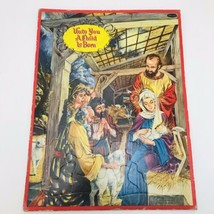 VTG Whitman Nativity A Child Is Born Religious Puzzle Flat Frame Tray Inlay 1954 - $18.81