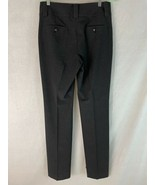 Etcetera Etc Pants 8 Dark Gray Poly Stretch Blend Zip Front Trousers - $38.61